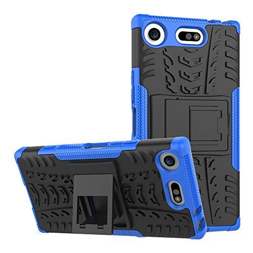 Sony Xperia XZ1 Compact Funda, FoneExpert® Heavy Duty silicona híbrida con soporte Cáscara de Cubierta Protectora de Doble Capa Funda Caso para Sony Xperia XZ1 Compact