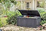 Keter 17193522 Kissenbox, regenfest, Glenwood, Balkon, grau, 390 L - 3