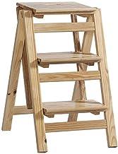 ZRABCD Taburetes de la Estabilidad de la Estabilidad de la Seguridad Del Hogar, la Escalera de 3 Pasos Doble Cara - Propós...