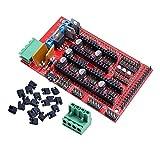 GOUJI Liupin Store 1 Juego RAMPAS 1.4 Panel de Control Board Parte Placa Base impresoras 3D de Piezas Escudo Rojo Negro Controles Ramps1.4 Juntas Accesorios Fácil de Instalar (Size : 1 Set)