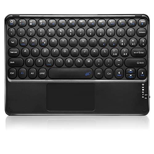 KOOCHUWAH Tastiera Bluetooth con Touchpad QWERTY Layout Italiano per Qualsiasi Sistema Operativo iOS Android Windows, Compatibile con Smartphone Laptop iPad Galaxy Tablets(Senza Supporto )