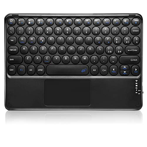 KOOCHUWAH Bluetooth Keyboard with Touchpad QWERTY Italian Layout for Any iOS Android Windows Operating System, Compatible with Smartphone Laptop iPad Galaxy Tablets
