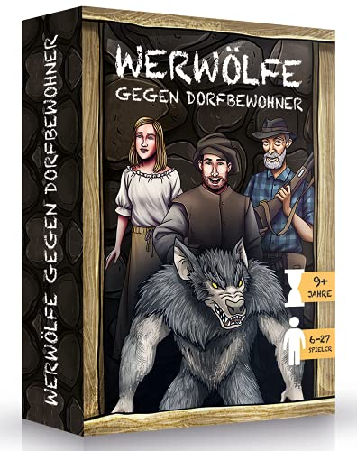 WERWÖLFE GEGEN DORFBEWOHNER - Werwolf Spiel für einen netten Abend - Werwölfe Kartenspiele