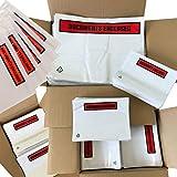 Bedruckte Dokumentenumschläge, selbstklebend, A7, 113 x 100 mm, reine Verpackung mit Haftklebeverschluss 100 Printed Documents enclosed
