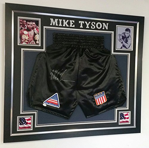Mike Tyson Unterschrift Shorts/Trunks * AFTAL Dealer COA *