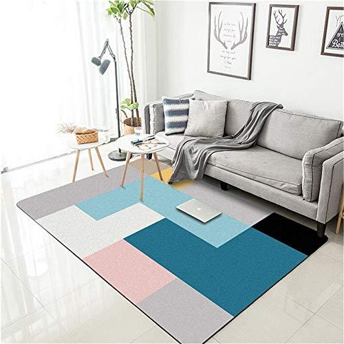 WQ-BBB Super Suave Pelo Corto El Dormitorioes La Alfombrer Geometría de Color...
