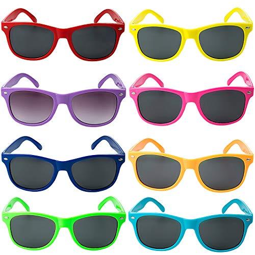 Comius Sharp Gafas Sol Fiesta, 8 Pack Gafas de Sol de Plástico para Niños - 8...