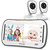 [HD] Video Baby Monitor, AXVUE 720P 5' HD Display, IPS Screen, 2 HD Cams, 12-Hours Battery Life,...