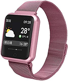 WJFQ Reloj Inteligente Pulsera Deportes Impermeable Reloj Inteligente rastreador de Ejercicios al Aire Libre IP68 SmartWatch con Monitor de Ritmo cardíaco del sueño Hombres Mujeres