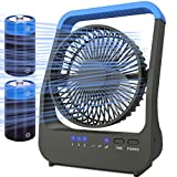 Battery Operated Fan, Camping Fan Battery Powered, Super Long Lasting, Portable D-Cell Battery...