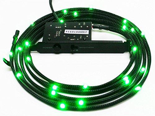 NZXT CB-LED10-GR 1-Metre Light Sensitivity Sleeved LED Kit (Green)