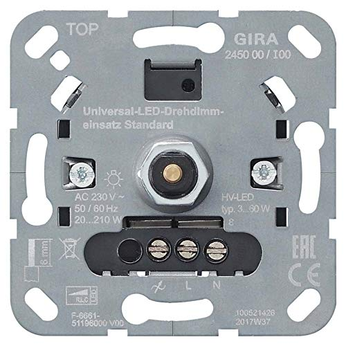 Gira LED-Univers.-Dimmereinsatz 245000 Standard Dimmer 4010337031406