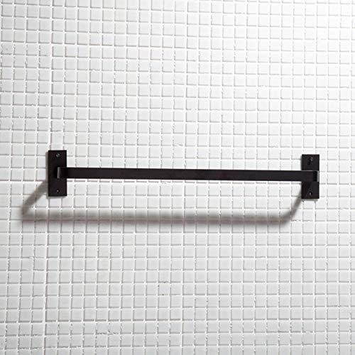 anruo Zwarte plank aluminium badkamer wandplank enkellaagse tissuehouder toiletborstelhouder