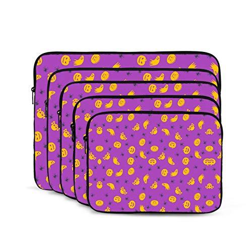 KUUDJIT Halloween Ghost Devil Pumpkin (1) 12/13/15/17 Inch Laptop Sleeve Bag for MacBook Air 13 15 MacBook Pro Portable Zipper Laptop Bag Tablet Bag,Diving Fabric,Waterproof