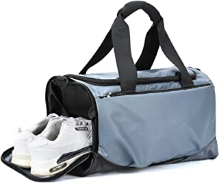 Sports Duffle Bag,Holdall Handbag with Shoes Compartment (Color : Gray)