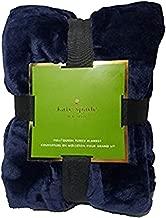 Kate Spade Full/Queen Fleece Blanket - Navy