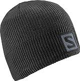 Salomon, Unisex Logo Mütze, Für Wintersportler, LOGO BEANIE, Schwarz, L36685000