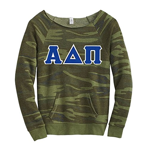 Alpha Delta Pi Maniac Camo Fleece Sweatshirt Small Camo