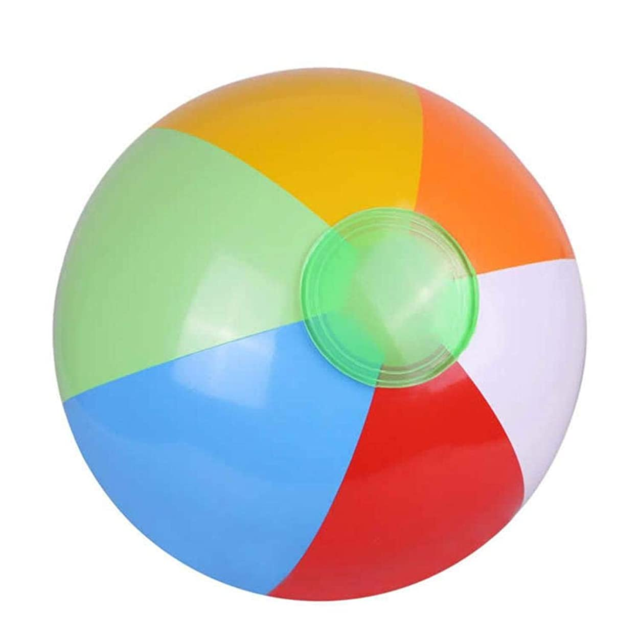 ラッドヤードキップリング阻害するヘビー環境に優しいポリ塩化ビニールの膨脹可能な6部分色の球さまざまなおもちゃのビーチボールランダム色SNOWVIRTUOS