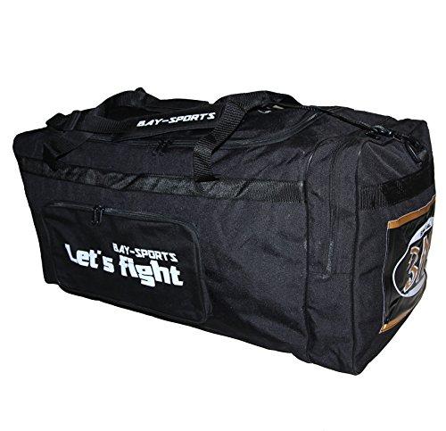 BAY 'Let´s Fight XL, 80 cm, Sporttasche, Reisetasche, 100 l Liter, schwarz Gold Eishockeytasche Tasche groß XXL Transporttasche, Sporttasche, Jumbo, Sport, Eishockey