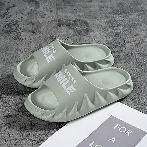 ShSnnwrl Naranja Zapatillas Casuales para Mujer Zapatillas de Plataforma Suaves y cómodas para Mujer Chanclas de Interior Zapatos de Verano para Mujer 41 Green-9017-1