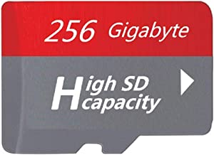 Red Micro Memory SD Card, Designed for Smartphones, Tablets Memory Card High Speed Class 10 (256GB)