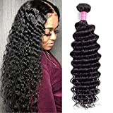 10A Brazilian Deep Wave Human Hair Bundles 1 Bundle 28' Deep Curly Weave Hair Bundles Unprocessed Virgin Brazilian Deep Wave Human Hair Bundles Natural Color