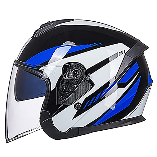 GDSAIL Casco Moto Cascos Motos Baratos con Doble Visera Cómodo Transpirable Nuevo...