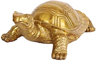 Fortune Feng Shui Large Pure Brass Turtle Statues,Chinese Feng Shui Decor Figurine for Home and Office,Wealth and Good Luc...