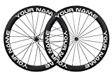 700c rim decals - ICANIAN Customize 55mm Carbon Road Bike Wheels Stickers Cycle Bike Rim Decals for Rim Size 700c