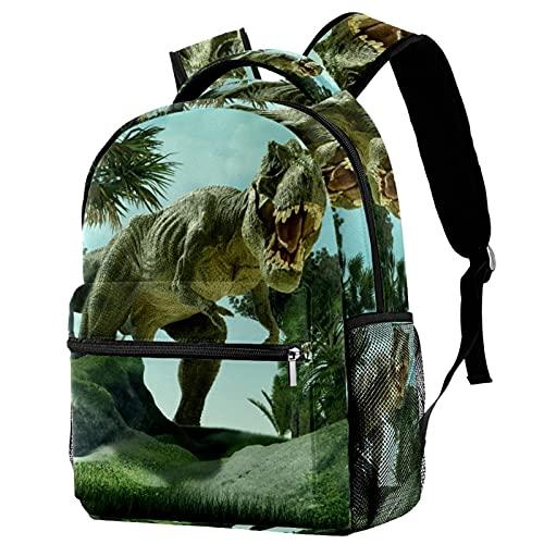 Daypack Dinosaurio Mochila Infantil Impermeable Bolsa para la Escuela Impresión Creativa Mochila de Viaje para Niños y Niñas 25.4x10x30 CM