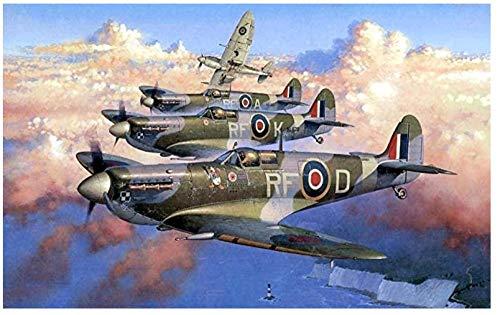 bbnnmm Puzle de Aviones de la Segunda Guerra Mundial para Adultos Puzle de 1000 Piezas de Aviones de la Segunda Guerra Mundial 75x50cm decoración de la habitación