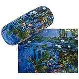 VON LILIENFELD Portaocchiali Astuccio Occhiali Regalo Leggero Stabile Colorato Compatto Donna Arte Fiore Claude Monet Ninfee