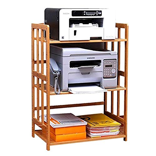 Support pour Imprimante Simple moderne renforcé imprimante rack de stockage de bureau étagère en bois massif rack de fichier Office Support de rangement Supports Imprimantes