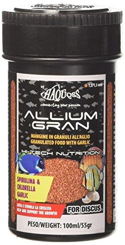 Haquoss Allium Gran Alimento de scaglie a Base de ajos para Discus, 100ml/55gr