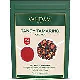 VAHDAM, tè freddo Tangy Tamarind | 40 porzioni, 8 quarti | Ingredienti naturali al 100% | Sapore delizioso di tamarindo e frutta esotica tropicale | Tè freddo alle erbe | 200gr dall'India