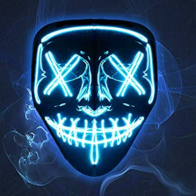 Amazon Promo Code for Halloween LED Light Up Mask Adjustable Scary Lighting 19102021041044