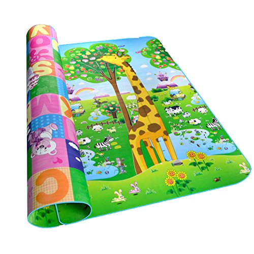 Alfombra Infantil Impermeable Dibujo Animado Alfabeto Patrón 200 x 180 CM Para Niños