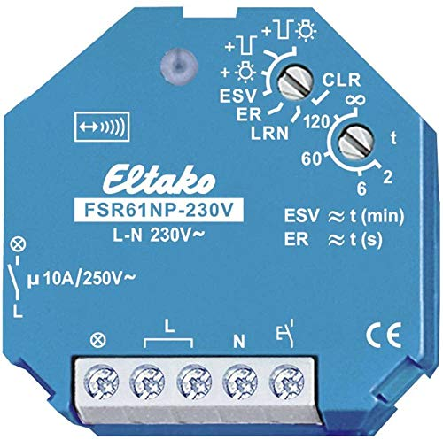 Eltako 4947808 Aktor Funk Stromstossrelais 1S FSR 61NP-230 V