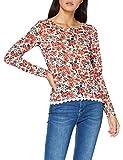 Springfield AOP Bajo Crochet Camiseta, Beige (Ivory 96), XS (Tamaño del Fabricante: XS) para Mujer
