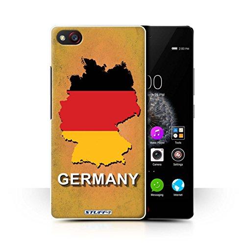 Hülle Für ZTE Nubia Z9 Mini Flagge Land Deutschland/Deutsch Design Transparent Ultra Dünn Klar Hart Schutz Handyhülle Case