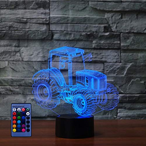 3D Traktor Lampe USB Power Fernbedienung 7/16 Farben Amazing Optical Illusion 3D wachsen LED Lampe Formen Kinder Schlafzimmer Nacht Licht