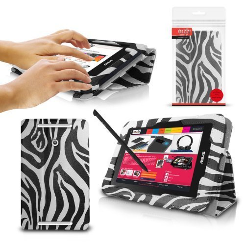 ORZLY®® - ASUS VIVO TAB NOTE-8 Tablet Case/Schutzhülle mit integrierter Standfunktion in ZEBRA - PropUp Stand Hülle/Fall / Tasche/Folio für ASUS ViVoTab Note 8 Tablet - 2014 Windows 8.1 Modell
