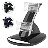 PS3 Playstation 3 Controller Charger, YCCTEAM Dual Console Charger Charging Docking Station Stand for...