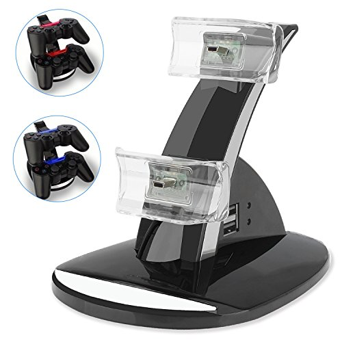 PS3 Playstation 3 Controller Charger, YCCTEAM Dual Console Charger Charging Docking Station for Playstation 3, Only Compatible with Original PS3 Controller,Not for Any Other Third Part PS3 Controller