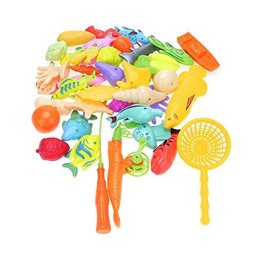 VANKER 40 Pcs/Set Enfant d'âge Préscolaire Enfants Sea Toy Prétendre Jouer Jeu de Pêche Magnétique Ensemble