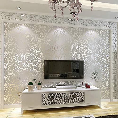 Nuovi sfondi di lusso riflettenti dorati grigio argento Soggiorno Pavimentazione Carta da parati stereoscopica per pareti 3 d Papier Peint 0,53 m X 10 m