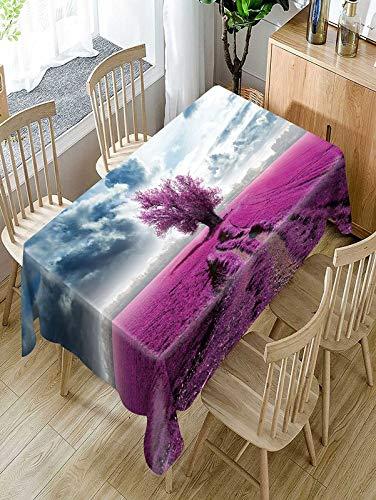 XXDD Mantel de patrón de mar de Flor púrpura Simple hogar cómodo Mantel Impermeable y a Prueba de Polvo A2 140x180cm