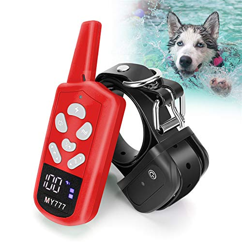 Training Collar for Dogs - Dog Training Collar with Remote 3 Correction Modes Beep, Vibration Waterproof Dog E Collar for Dogs Large,Medium,Small Rechargeable Training Collar Up to 1800ft Remote Range