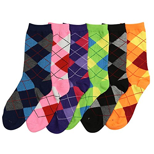 Womens Fun and Colorful Argyle Socks